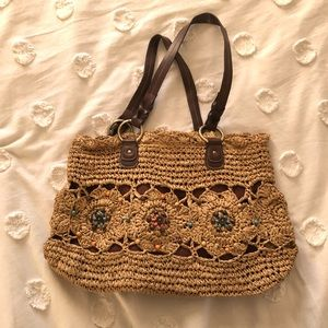 Straw woven bag / straw woven purse